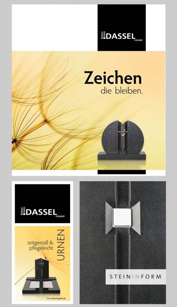 Dassel Naturstein Broschuere Flyer