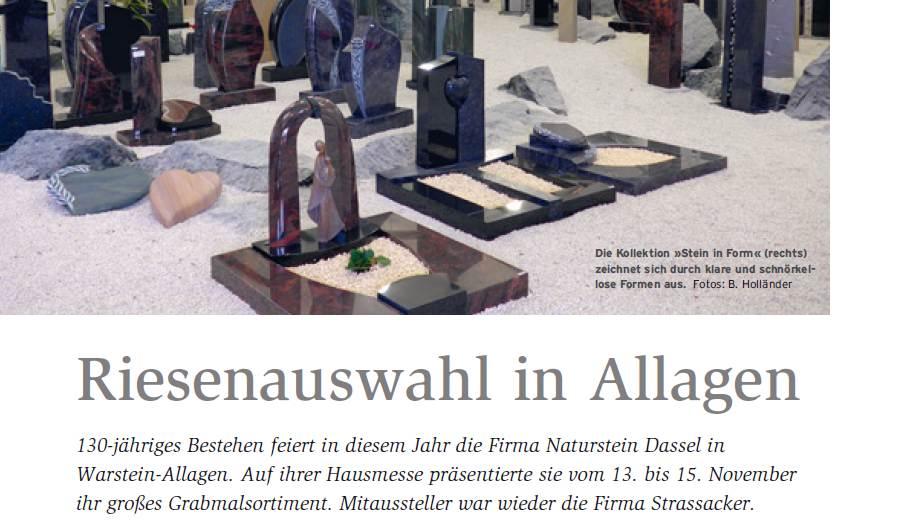 Dassel Naturstein Magazin Grabsteine