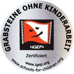 igep - Zertifikat / Natursteinwerk Dassel