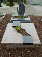 90017 Urnengrab Multicolor Rot Indisch Black Ohne Form Außenmaß 100x100cm
