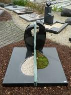 90044 Urnengrab Indisch Black Atlantis FormUR 109 14 Außenmaß 100x100cm