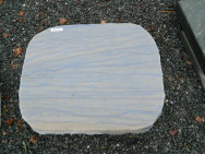 AM 115 Liegestein Azul Quarzit Macauba Poliert Gesprengt 51x41x15cm