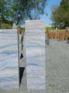 AM 124 Stele Azul Macauba Poliert 30x16x110cm