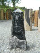 DIV 244 Stele Alpengrün Poliert Bossiert 36x20x87cm