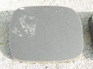 L 188 Liegestein Indisch Black Poliert Bossiert 65x53x12cm