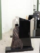 0535 Oberteil Kastania Indisch Black Poliert Form 23 13 45x14x100cm 40x16x71cm 90x25x8cm