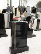 0536 Oberteil Indisch Black Jaspis Poliert 45x14x75cm 5x4x75cm 55x20x14cm