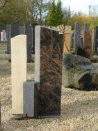 0563 Oberteil Kastania Gohara Limestone Poliert Gesandstrahlt Bossiert Form AB 16 02 15x14x82cm 14x14x35cm 28x14x90cm