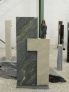 0569 Oberteil Gohara Limestone Dorfer Gruen Poliert Gebuerstet Form 1268 27x14x80cm 35x14x115cm
