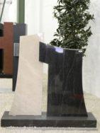 0572 Oberteil Gohara Limestone Virginia Black Poliert Matt Form 26 13 35x12x90cm 55x14x80cm 100x25x8cm