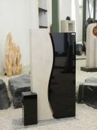 0654 Oberteil Indisch Black Gohara Limestone Form AB 16 03 14x14x32cm 23x15x100cm 30x14x95cm