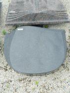 20452 Liegestein Indisch Black L61 50x40x12cm