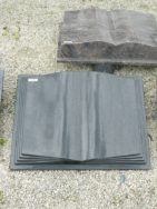 10190 Buch Indisch Black Form F 60x45x10cm
