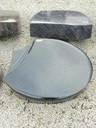 20513 Liegestein Indisch Black Form L121 60x45x12cm