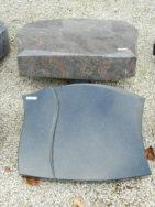 20524 Liegestein Indisch Black Form P104 50x40x6cm