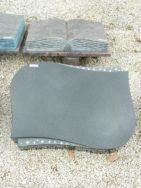 20531 Liegestein Indisch Black Form L135 60x45x10cm