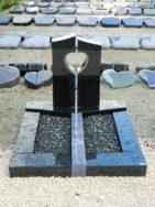 90204 Urnengrab Indisch Black Azul Macaubas Form UR 138 15 Ohne Herz