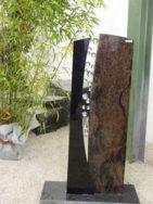 SF 070 Oberteil Indish Black Kastania Poliert Form SF 2017.02 20x14x110cm 26x12x110cm
