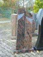 0805 Oberteil Kastania Poliert Form 27 18 25x16x130cm 25x16x120cm 65x20x8cm