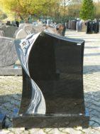 0686 Oberteil Indisch Black Poliert Ornament Form 45 18 80x14x95cm 90x20x14cm
