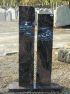 0689 Stelen Kastania Poliert Form 41 14 Ornament 22x14x105 22x14x115cm
