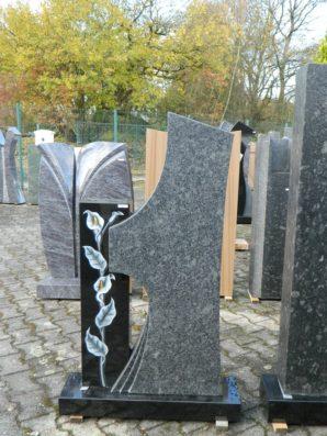 0692 Oberteil Steel Grey Indisch Black Poliert Gebuerstet Form 18 18 Ornament 47x14x115cm20x10x80cm75x20x8cm
