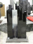0724 Oberteil Indish Black Poliert Form AB 17 23 Glasornament 14x14x85cm 24x14x90cm 85x20x8cm