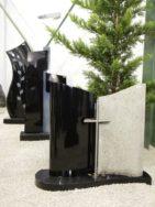 0741 Oberteil Kashmir White Indish Black Poliert Form NR 45x16x80cm 40x16x80cm 100x35x6cm