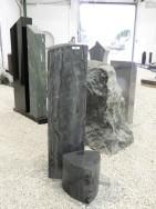 0748 Stele Matrix Gebuerstet Form URST32 20x20x75cm 20x20x18cm