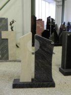 0758 Oberteil Gohara Limestone Poliert Form AB 17 25 20x14x84cm 32x14x80cm 70x20x8cm