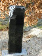 0770 Oberteil Indish Black Poliert Form 49 18 Ornament 30x14x100cm
