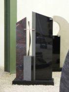 0818 Oberteil Ind.Black Iron Red Form AB 16 01 30x14x100cm 14x14x35cm 15x14x92cm 60x25x6cm