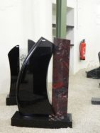 0821 Oberteil Ind.Black Iron Red Form 1354 50x14x100cm 20x100x4cm 75x25x10cm