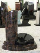 0914 Oberteil Ind.Black Kastania Form URST 136 15 25x15x70cm 40x30x18cm 70x40x6cm