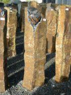 B 993 Basaltsäule 30x29x114cm Ornament Herz