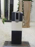 SF 0082 Oberteil Gohara Limestone Indish Black Form SF 2018.04 18,5x5,5x8cm 2x18,5x14x7cm 22x14x20cm 22x14x30cm