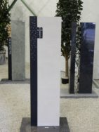 SF 0088 Oberteil Indish Black Gohara Limestone Form SF 2018.07 12x11x110cm 23x12x110cm
